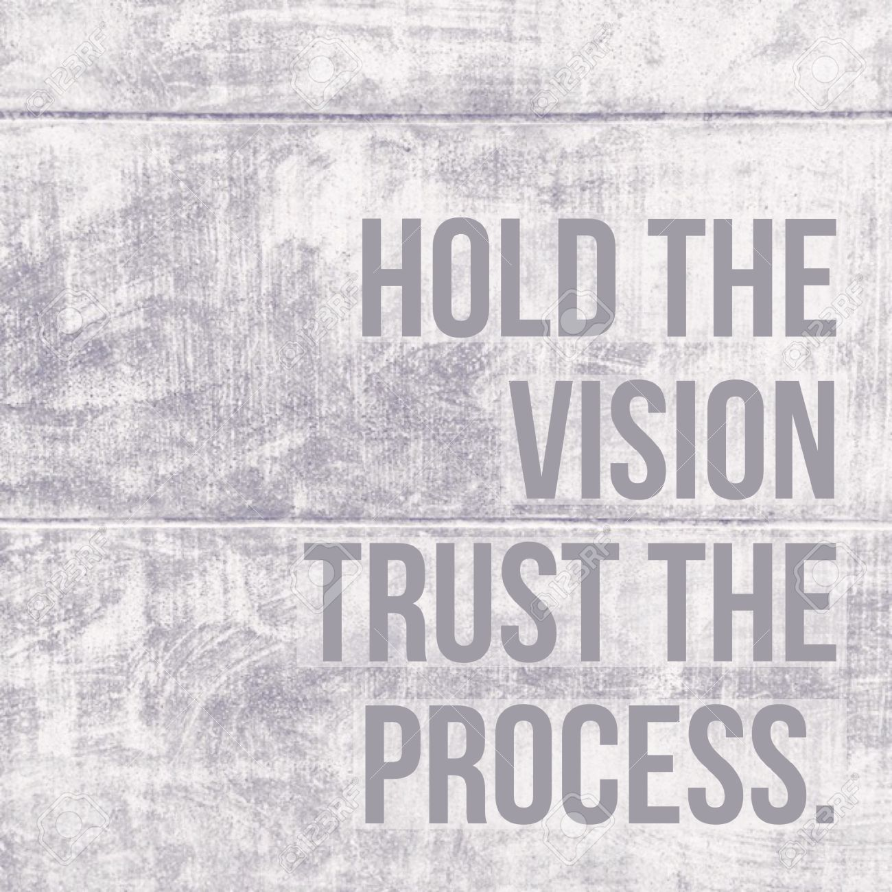 Inspirational Motivational Quote  Hold The Vision, Vision, Trust The  Process  On Concrete