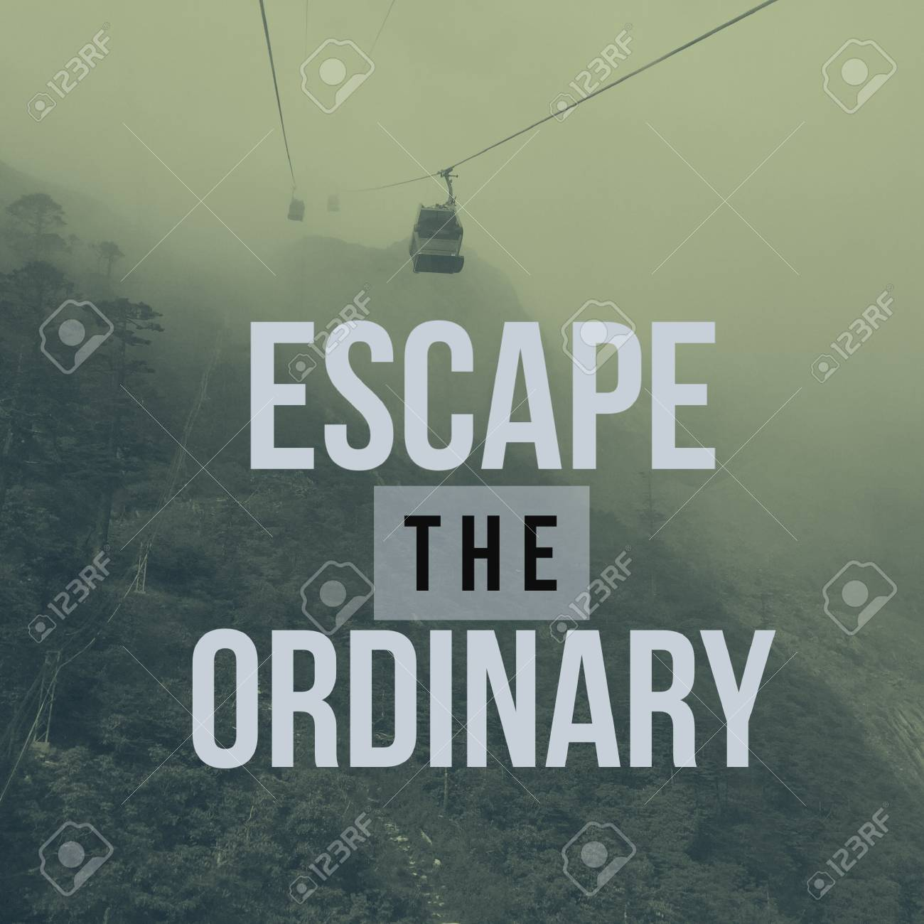 Inspirational Motivational Travel Quote Escape The Ordinary Stock Photo Picture And Royalty Free Image Image 88711825
