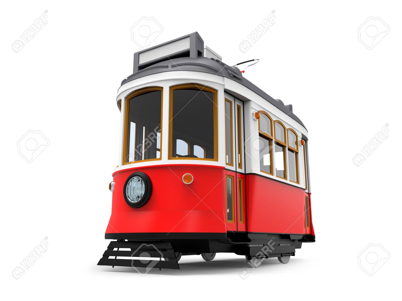 old tram cartoon - 115682309
