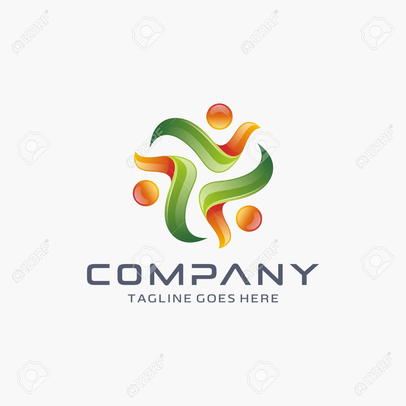 modern 3d triangle logo design template royalty free cliparts