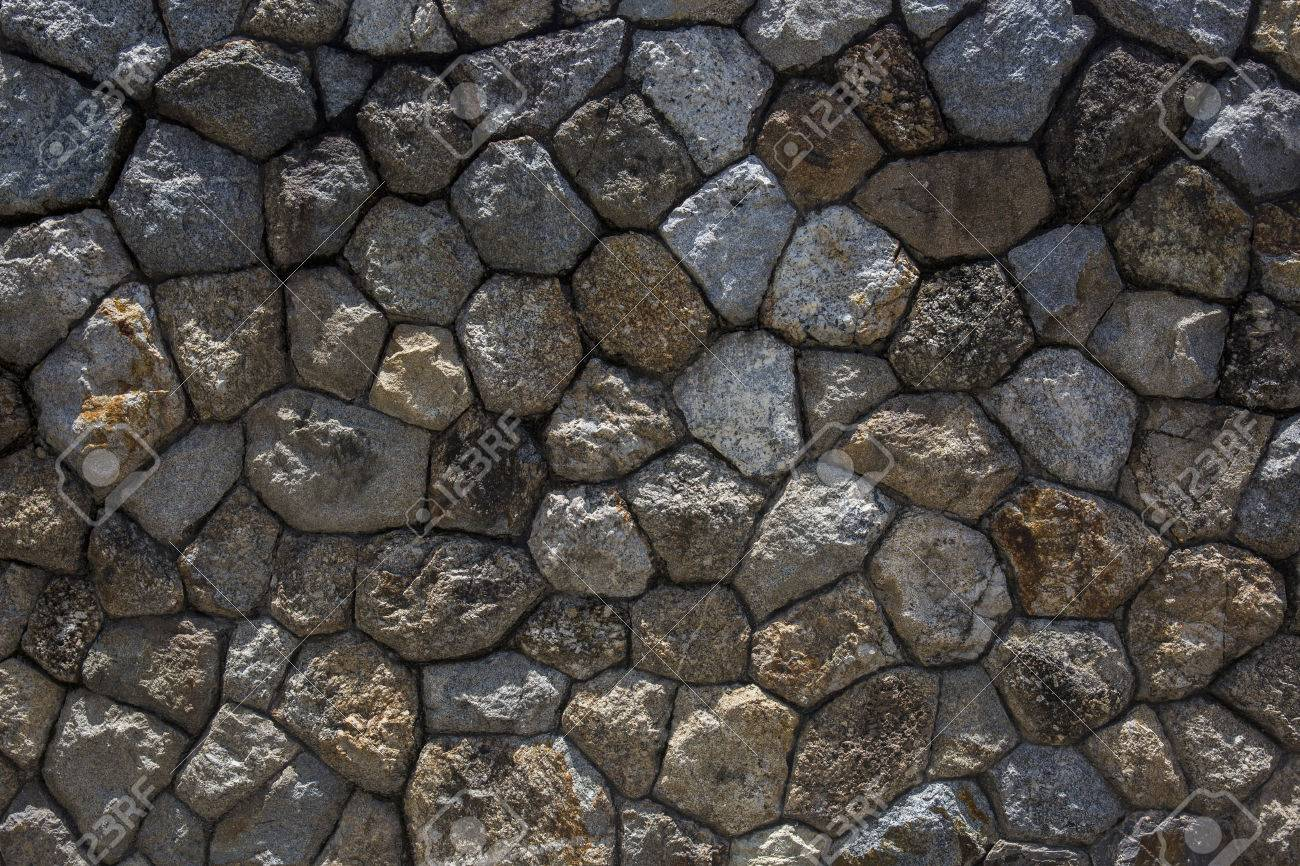 The Rock Wall Seamless Texture Design Background Stock Photo