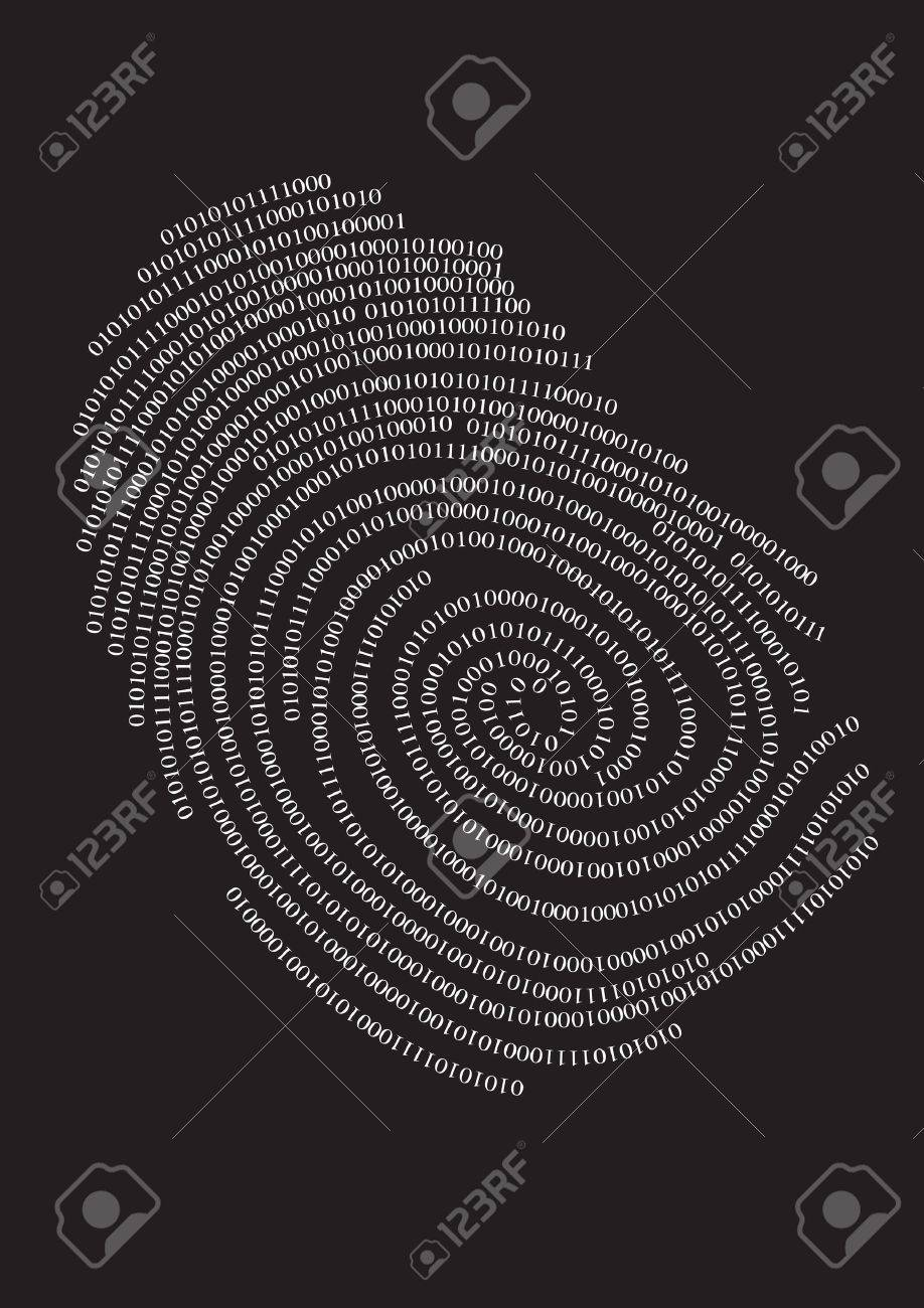 Privacy finger print. Stock Vector - 10361111