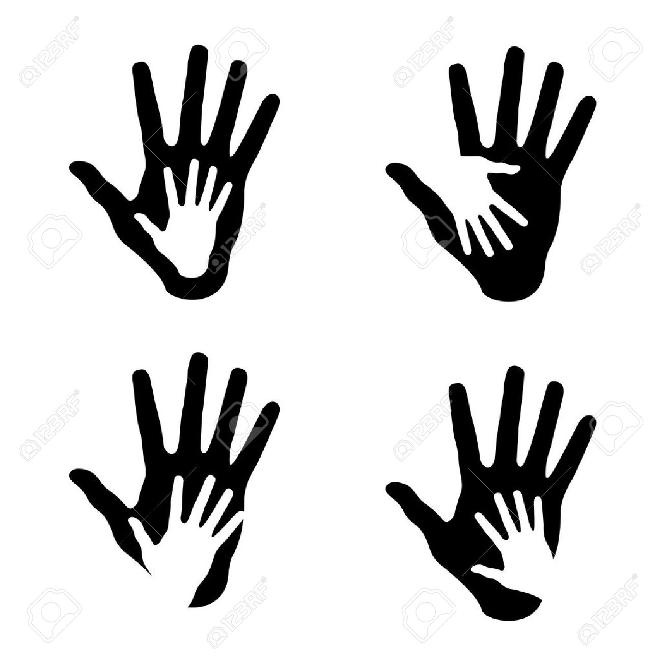 Set of Helping hands Helping Hand Icon