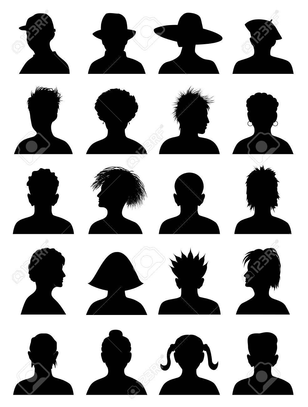 20 Anonymous Mugshots, abstract illustration