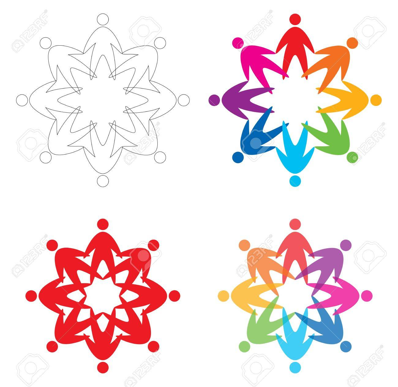 set of people  icons, abstract vector illustration Stock Vector - 13097102