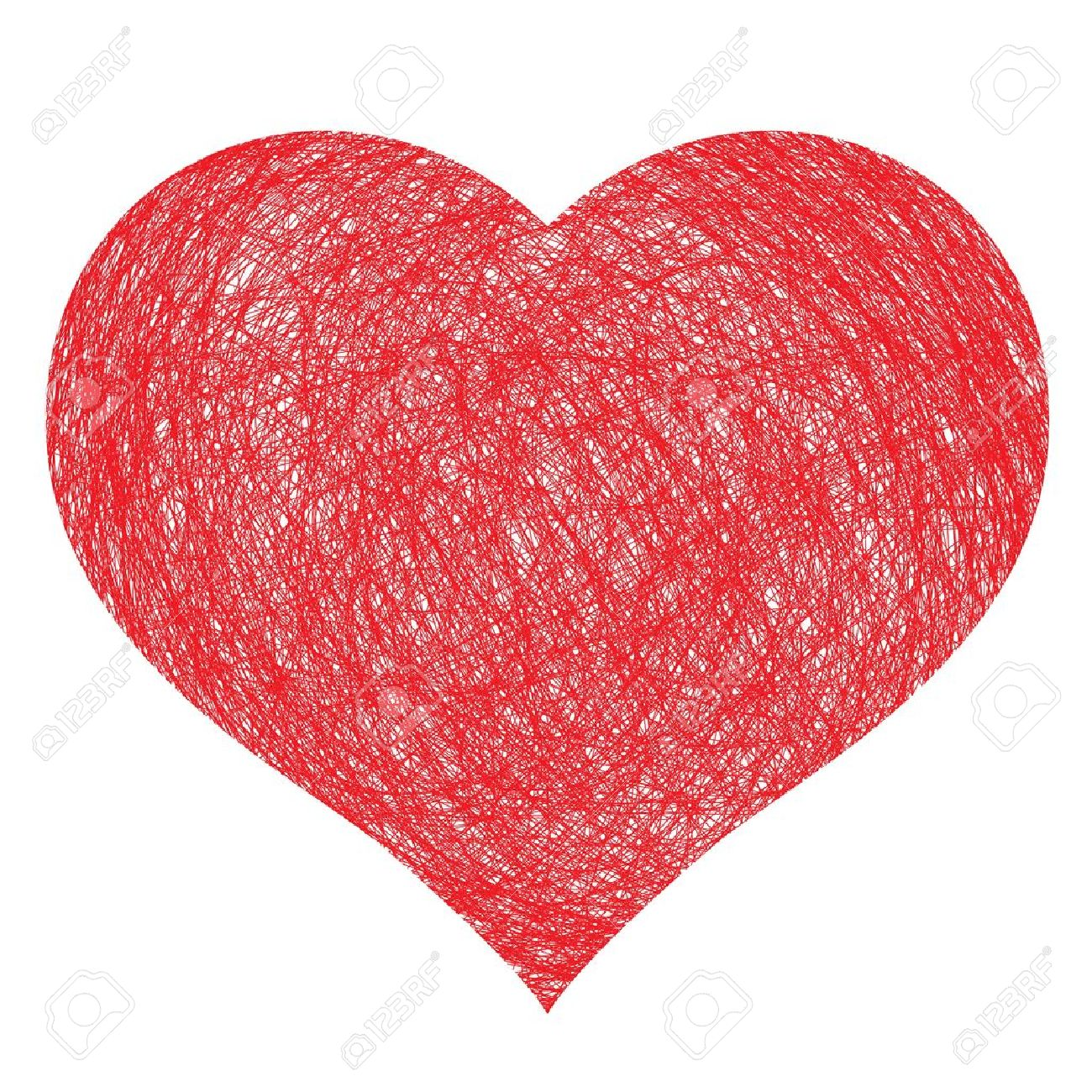hand drawn heart,  illustration for design Stock Vector - 13519166