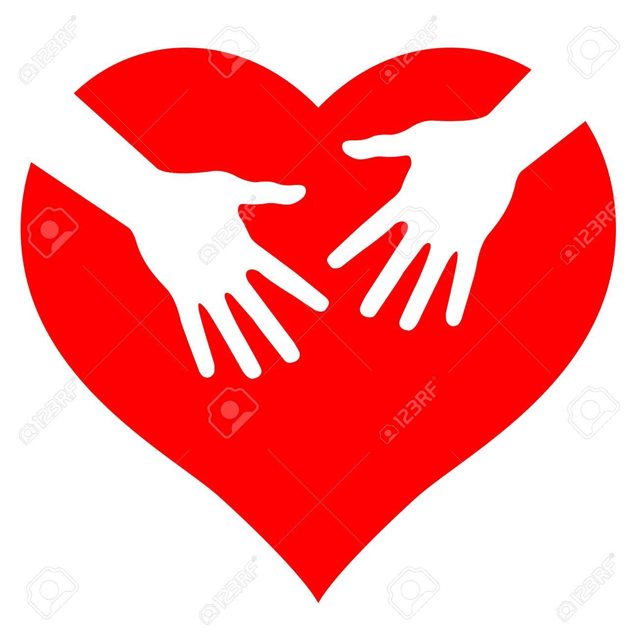 Hands on heart, abstract illustration for design Stock Vector - 13519171