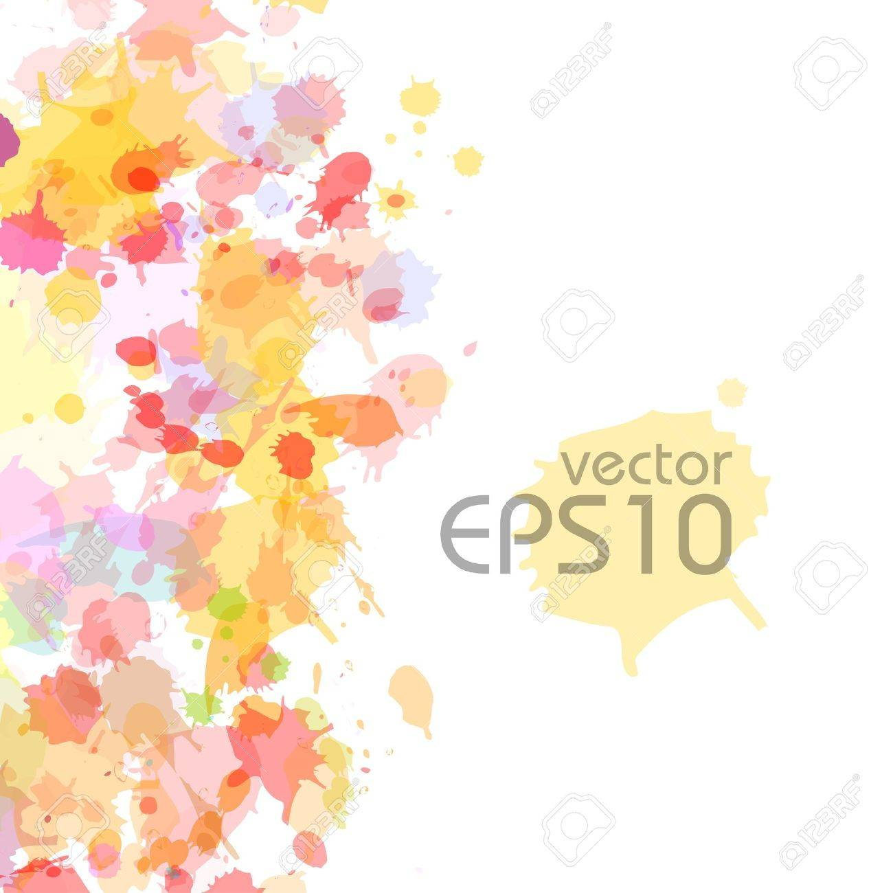 abstract watercolor blobs background, Stock Vector - 13717333