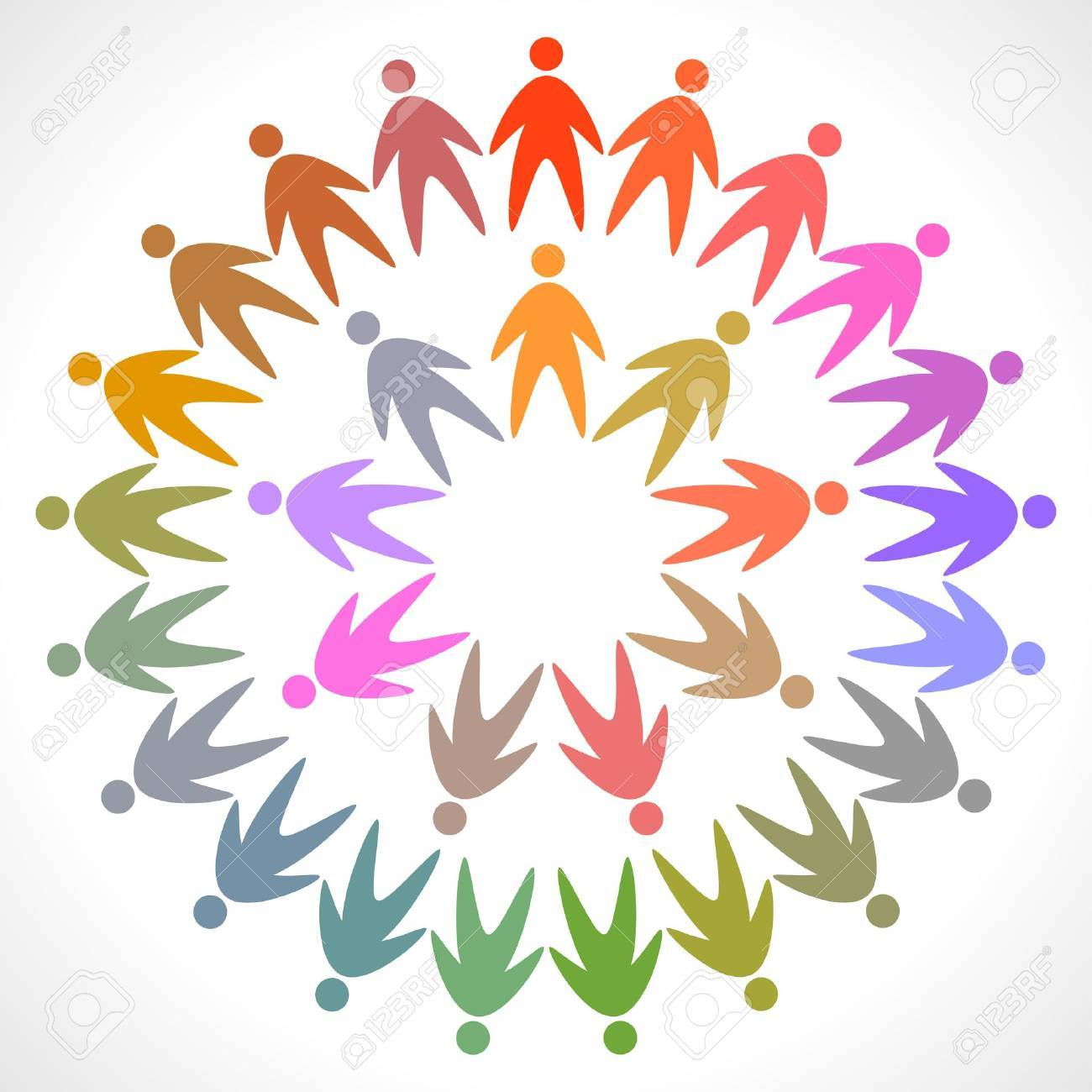 circle of colorful people pictogram Stock Vector - 13917895