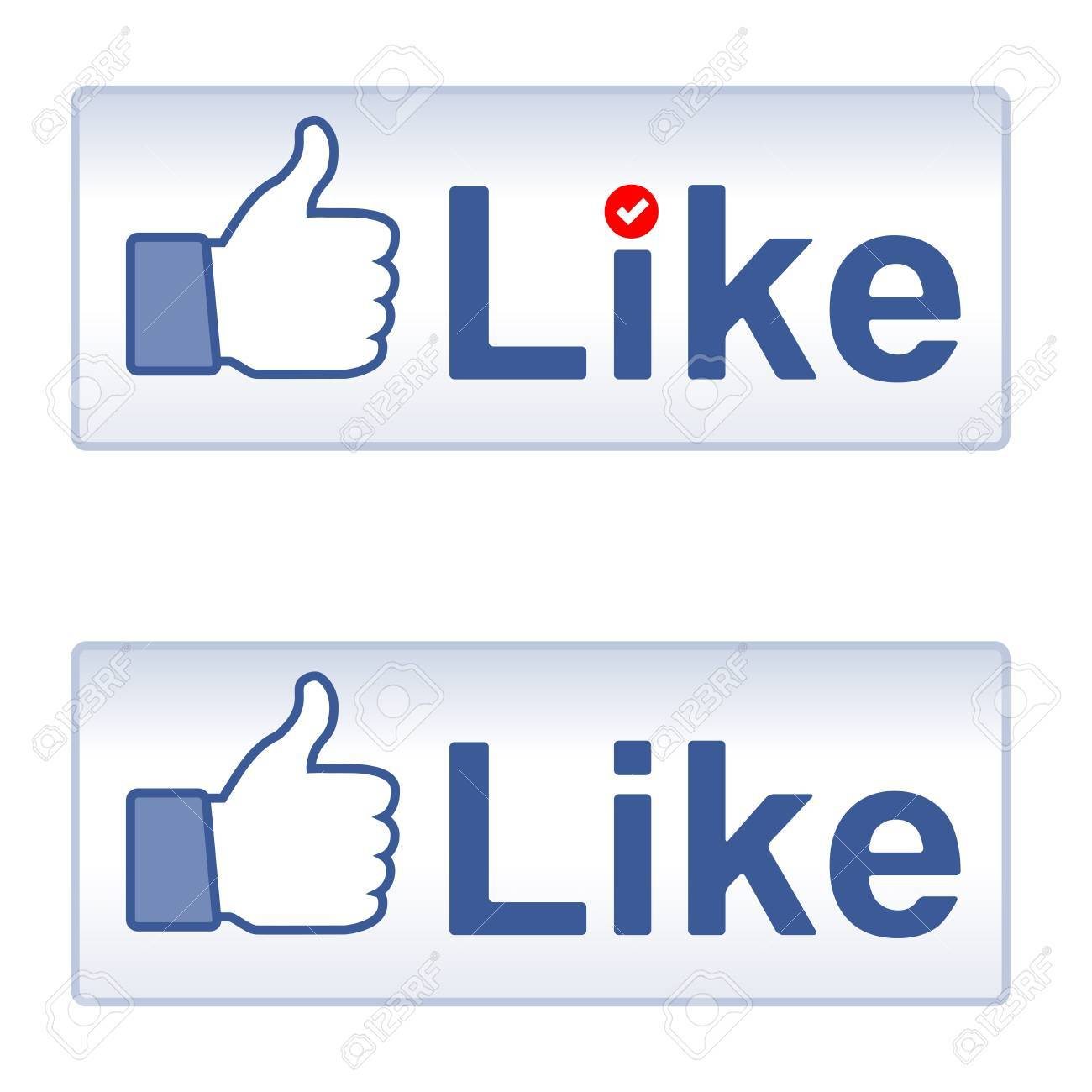 Thumb Up and Like, social media icon Stock Vector - 14265253