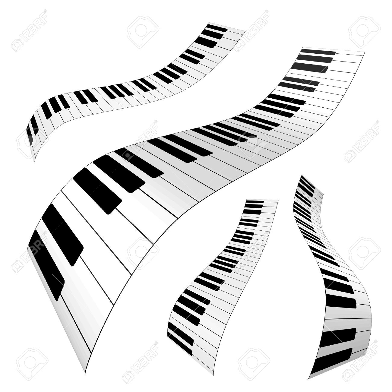 Piano Keys Stock Vector
