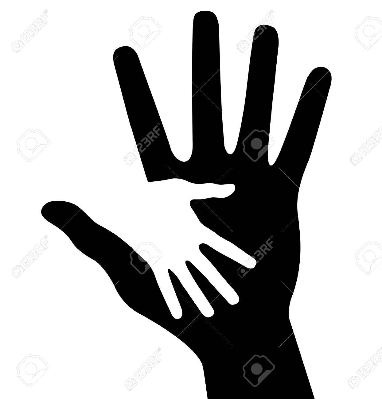 Caring hand, abstract vector illustration for design Stock Vector - 14475672