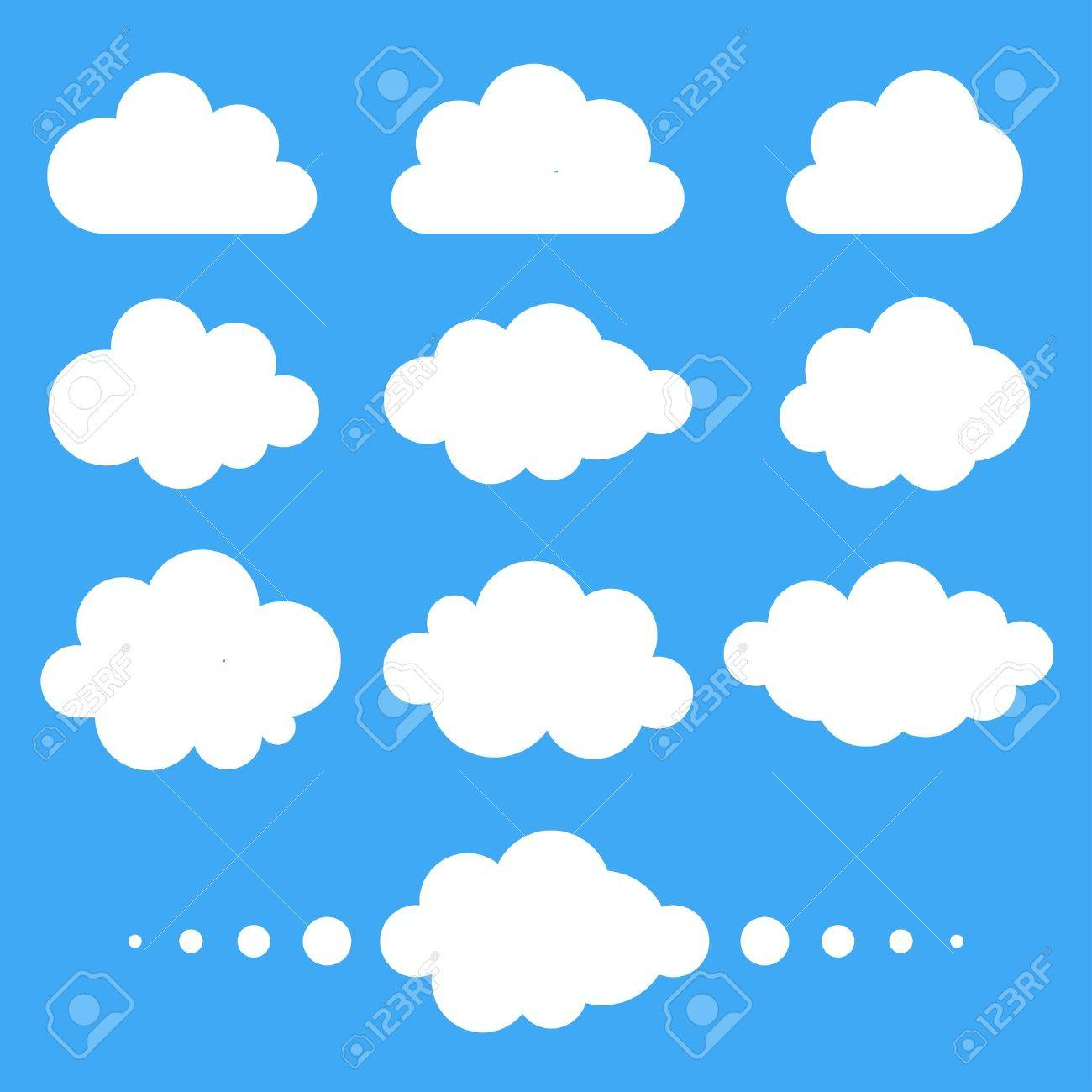 set of clouds vector illustration royalty free cliparts vectors rh 123rf com clouds vector png clouds vector art