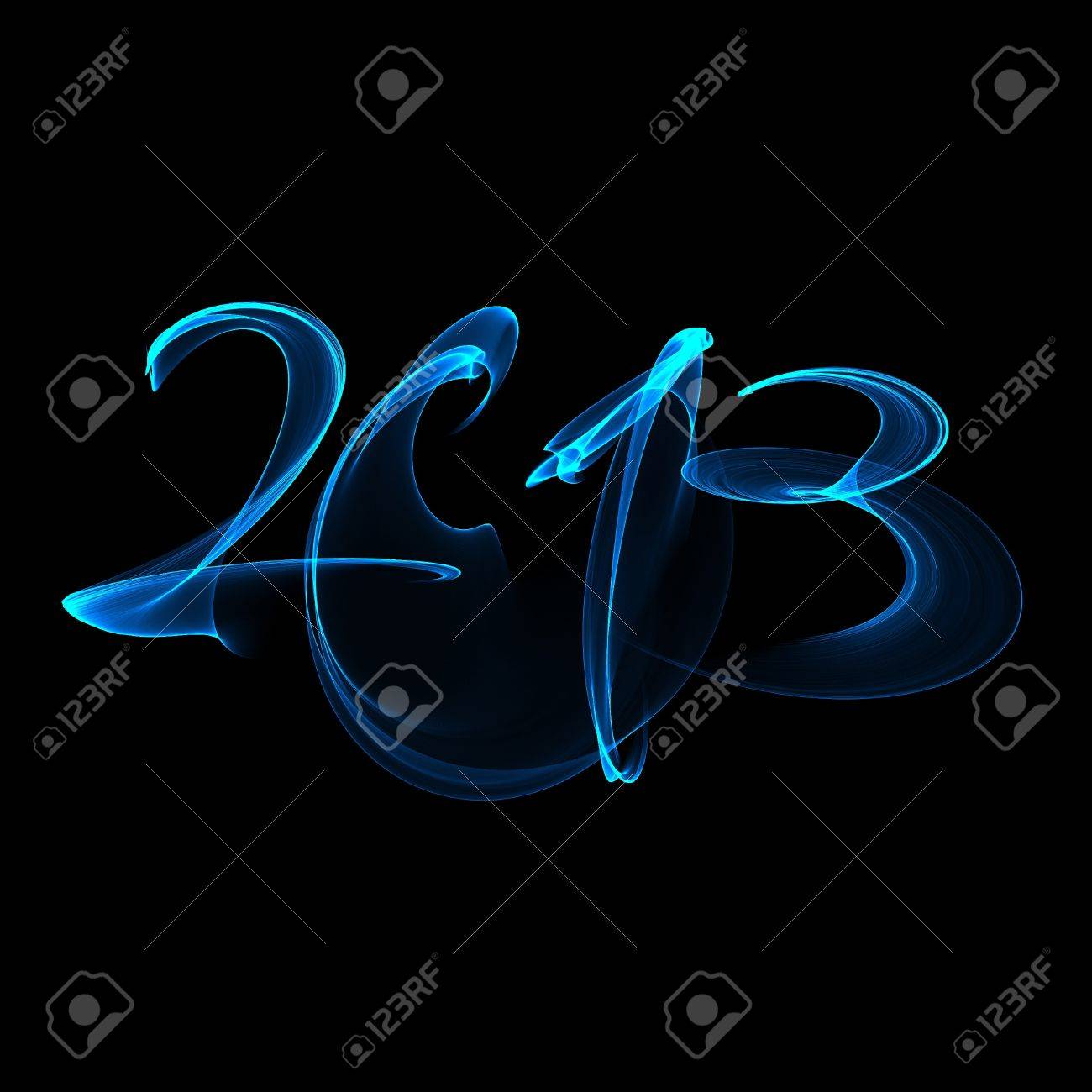 New Year 2013 blue flame Stock Photo - 15964915
