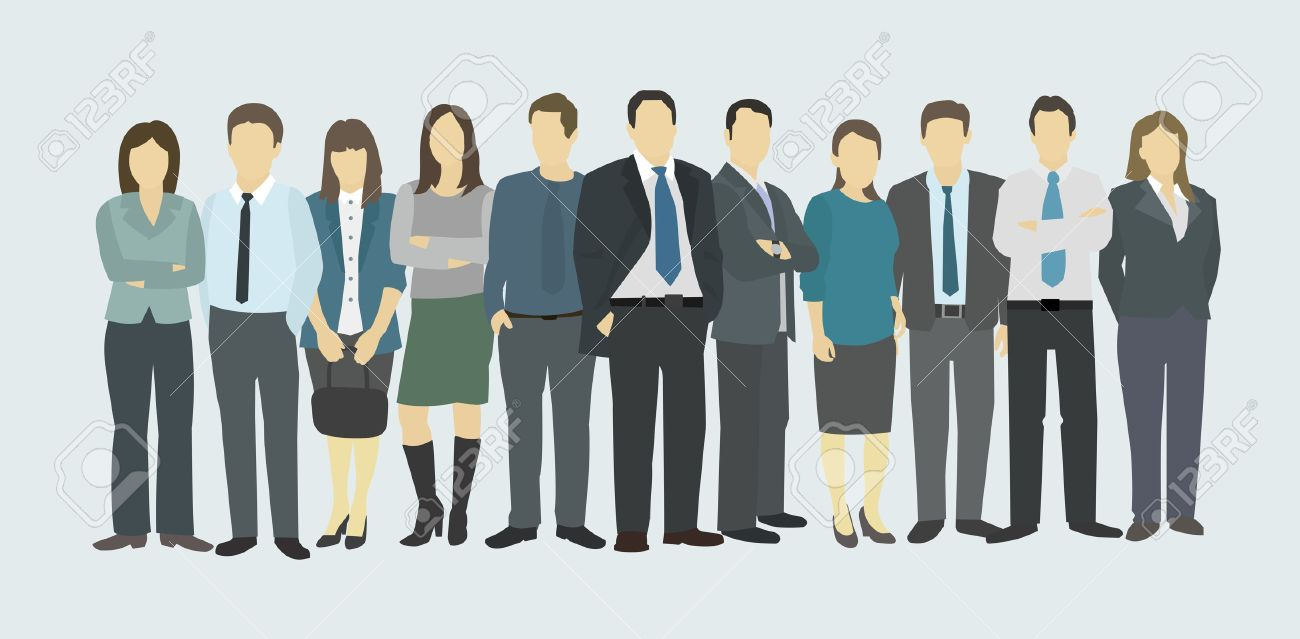 Business group the company staff people in uniform royalty free the company staff people in uniform stock vector 44028910 thecheapjerseys Image collections