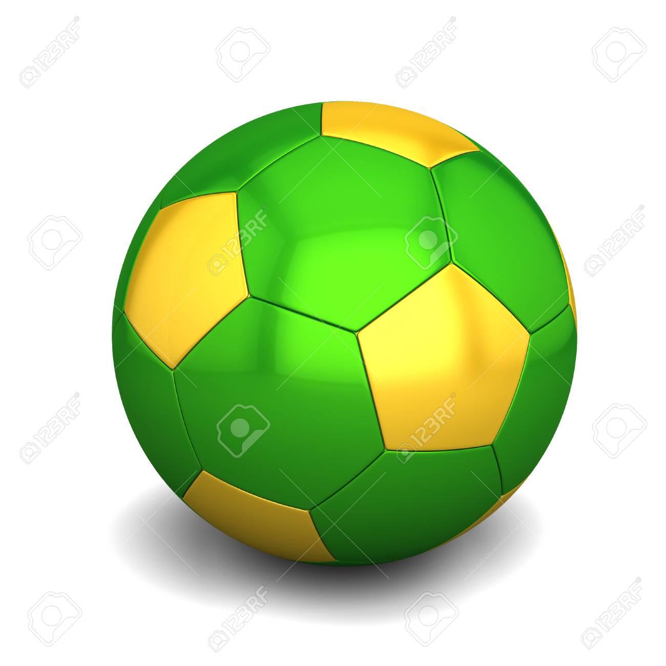 Brasilianische Fußball Farben Auf Weißem Hintergrund Lizenzfreie ...