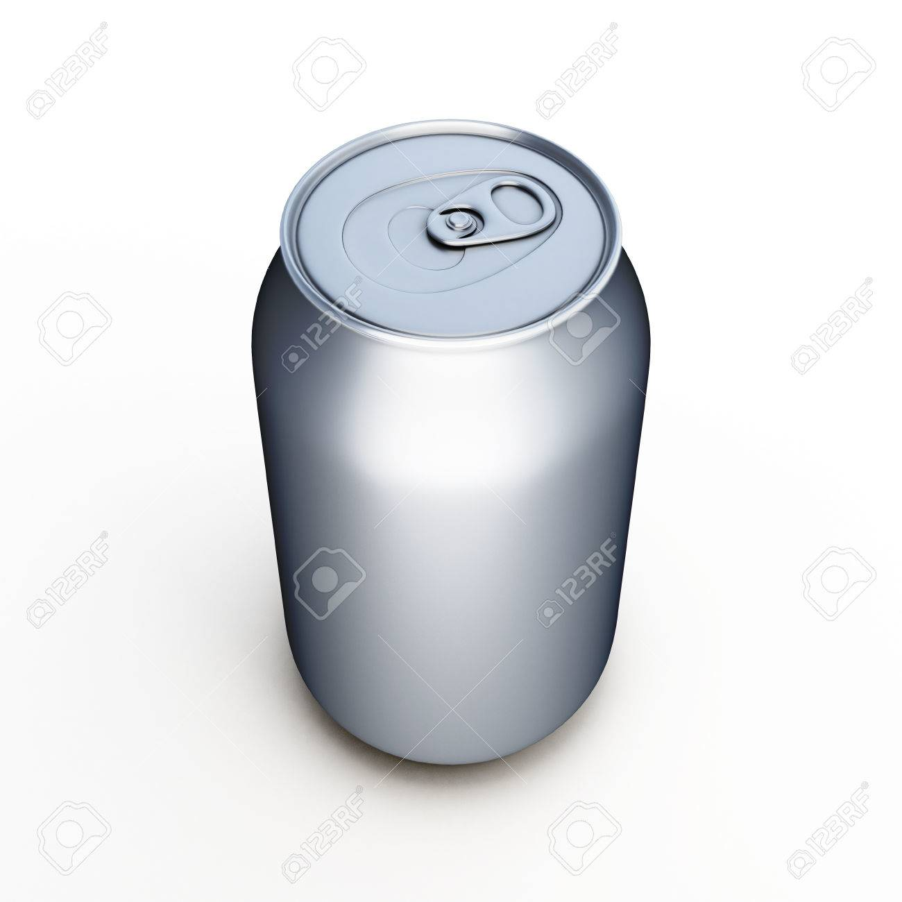 aluminum beer can isolated over white template empty can for