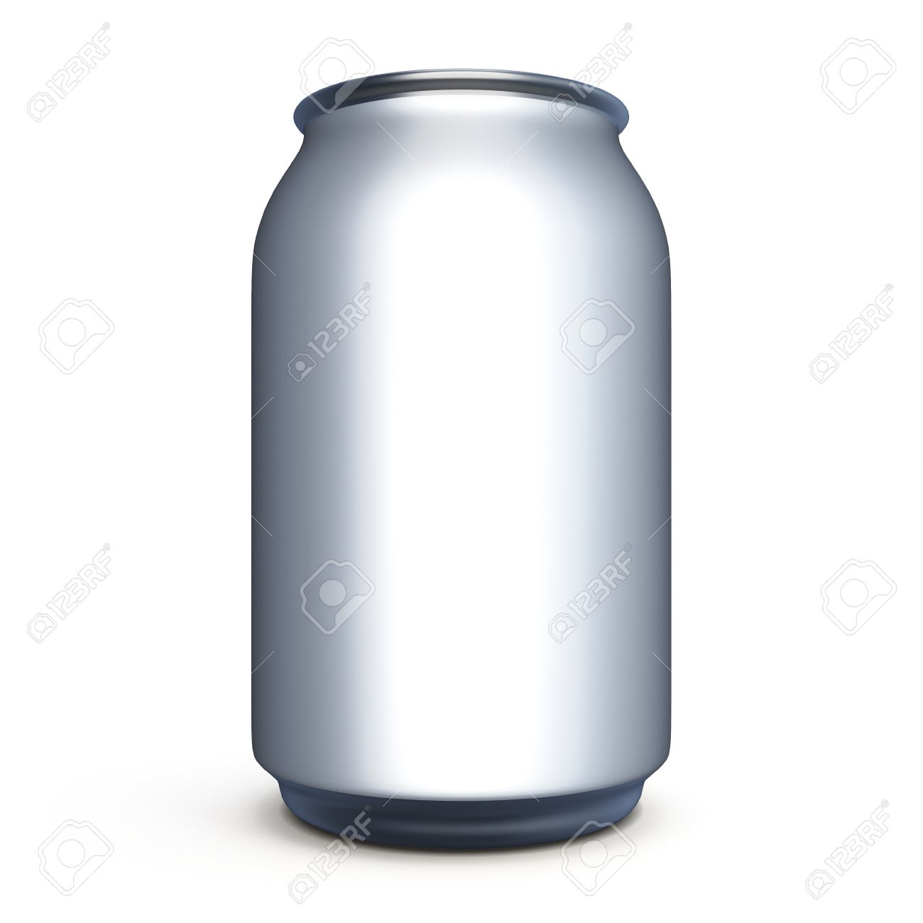 can for beer soda isolated on white background template can