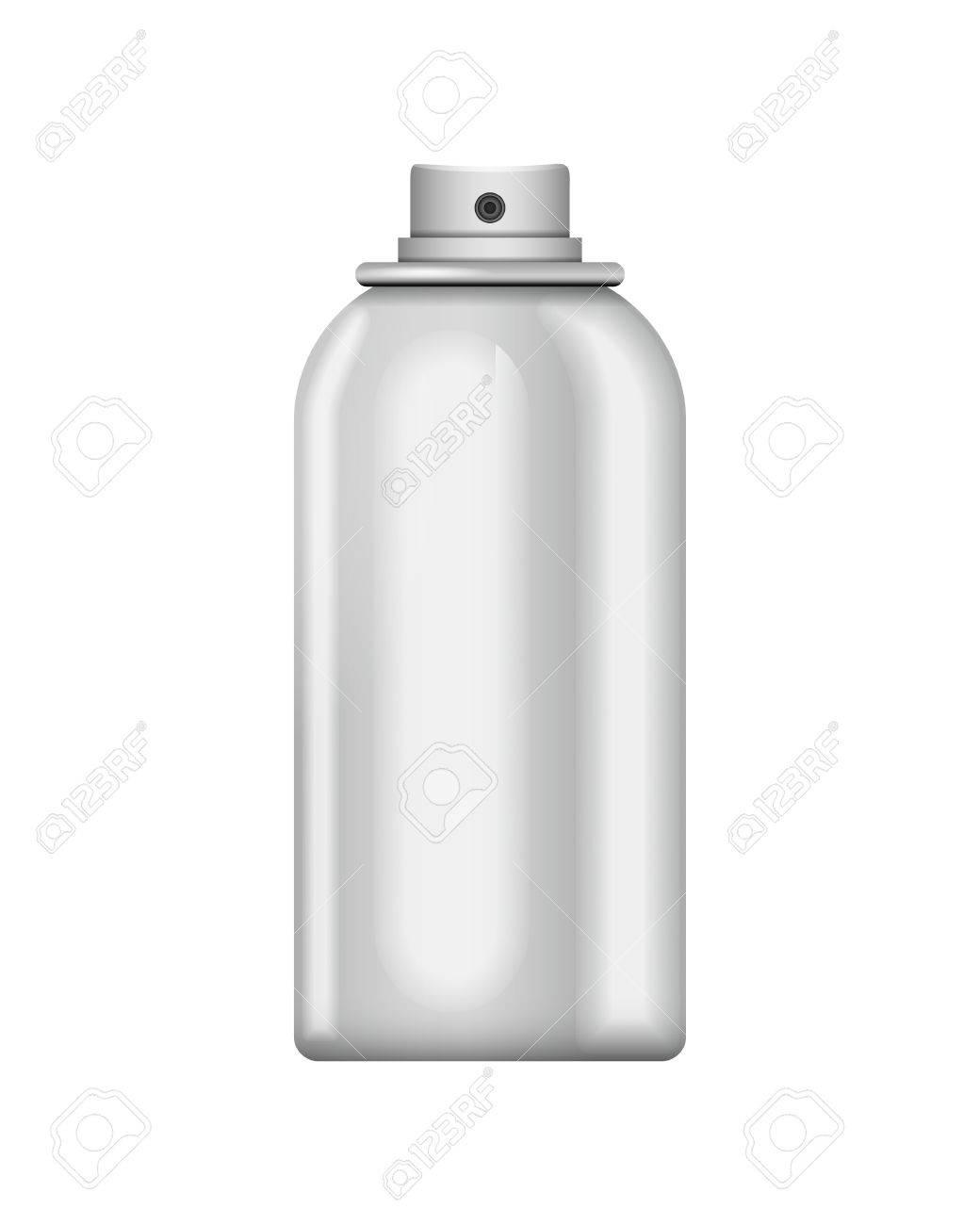 空白アルミ スプレー缶で孤立した白い背景 デザインのテンプレート
