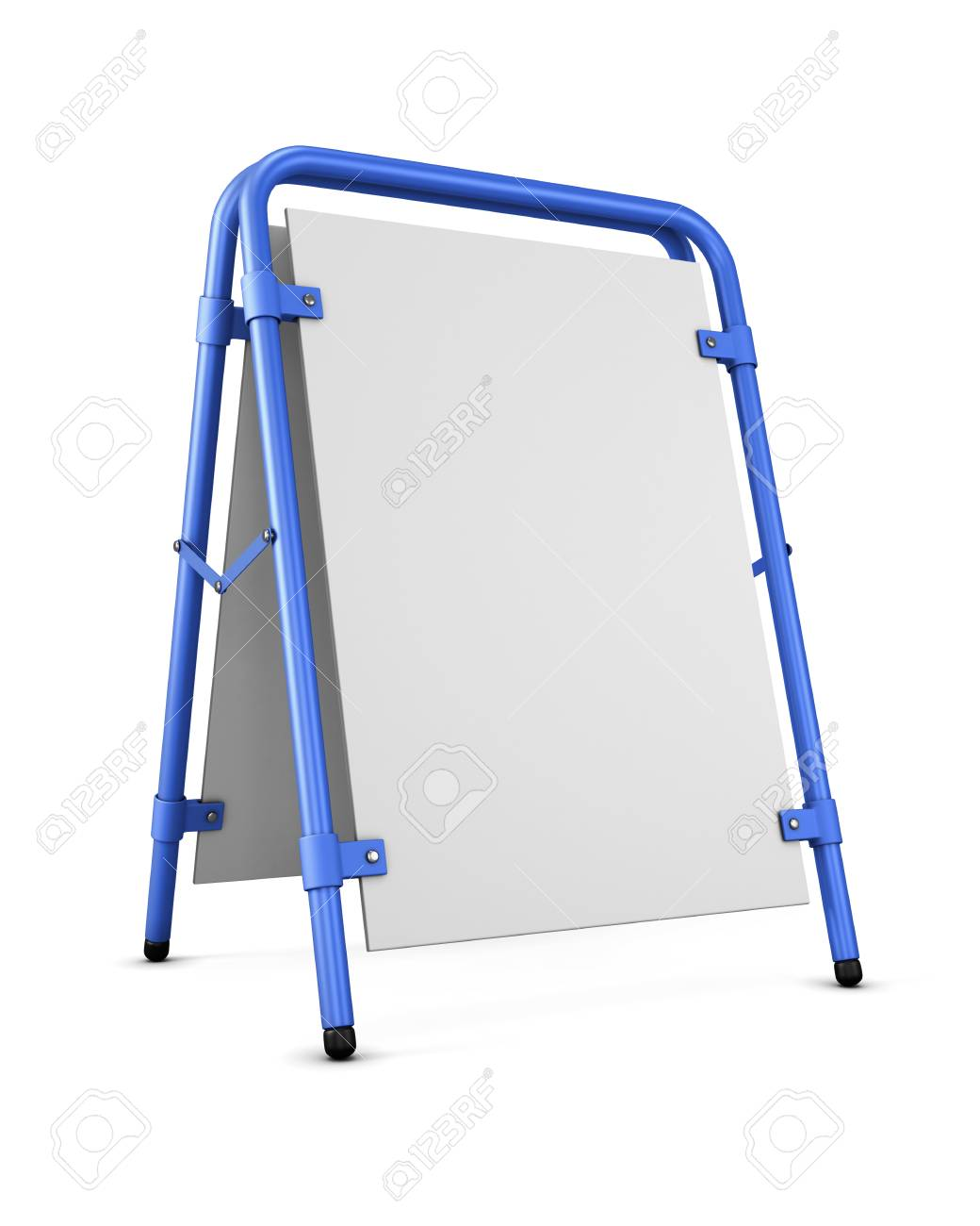 Blank Template Sandwich Board. Blank For Copy Space. 3d Rendering ...