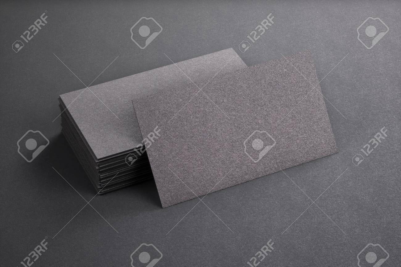 3d rendering of business card blank template black business stock 3d rendering of business card blank template black business cards on black background stock photo wajeb Image collections