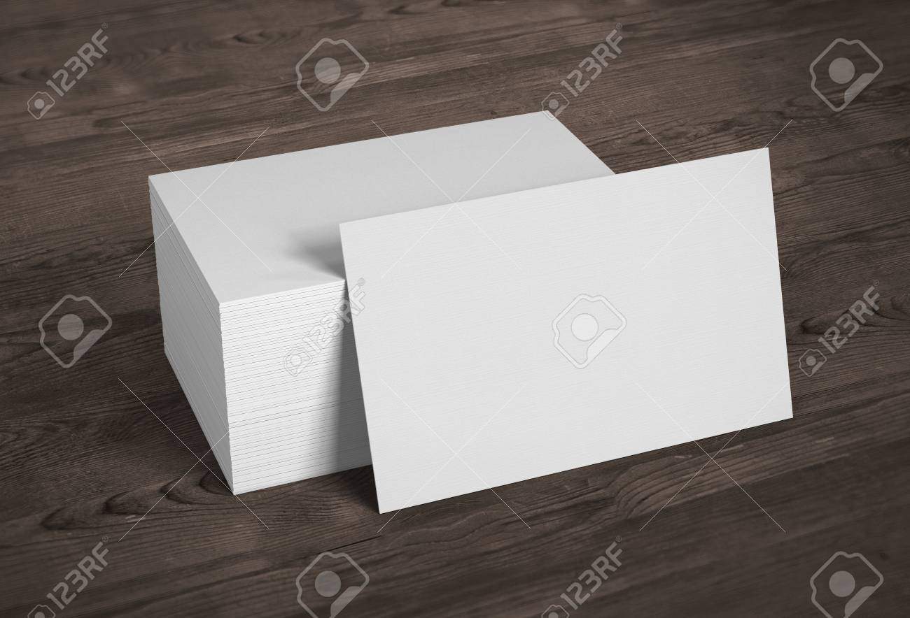 Blank template mockup business cards on wooden background 3d blank template mockup business cards on wooden background 3d rendering stock photo 106835063 reheart Gallery