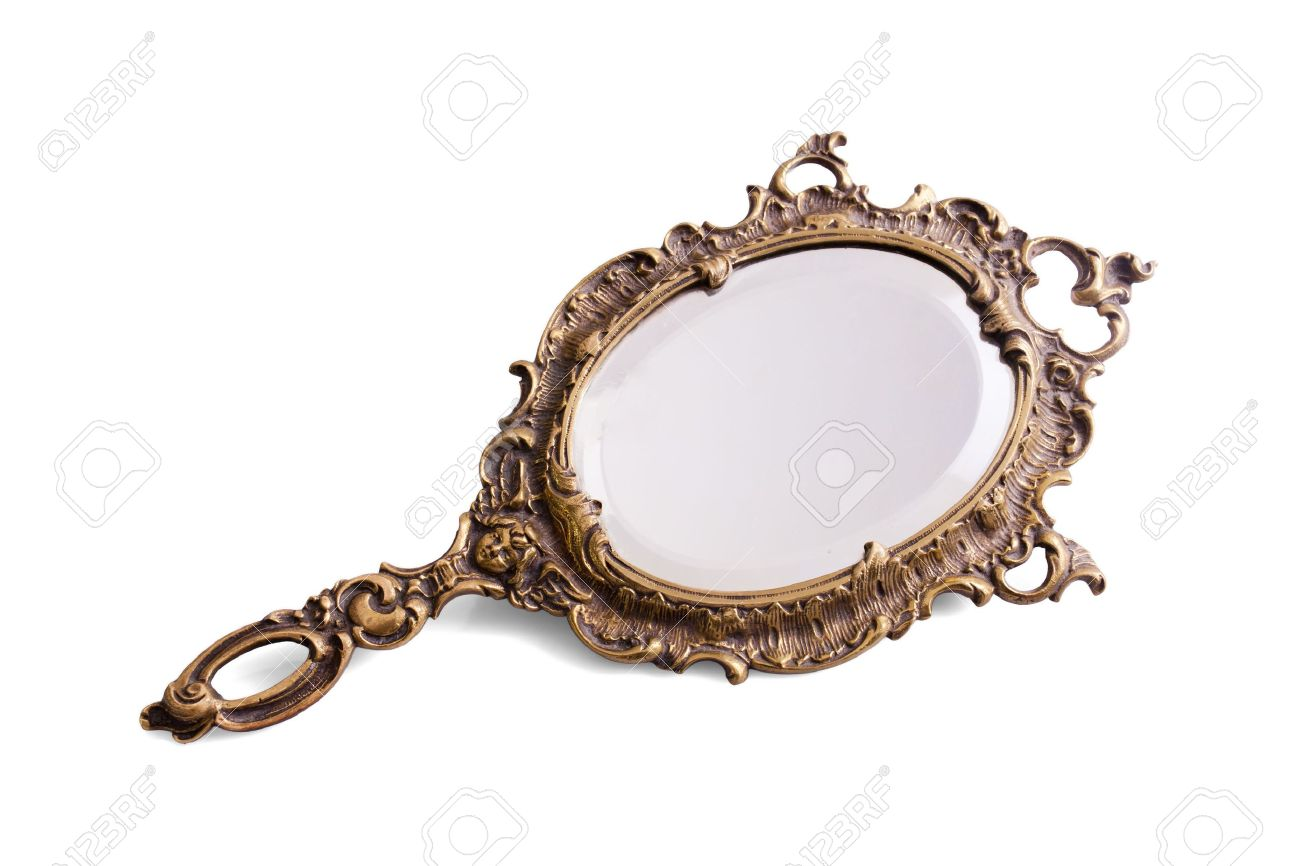 hand mirror. Simple Hand Beautiful Vintage Isolated Hand Mirror Stock Photo  17889787 For Hand Mirror A