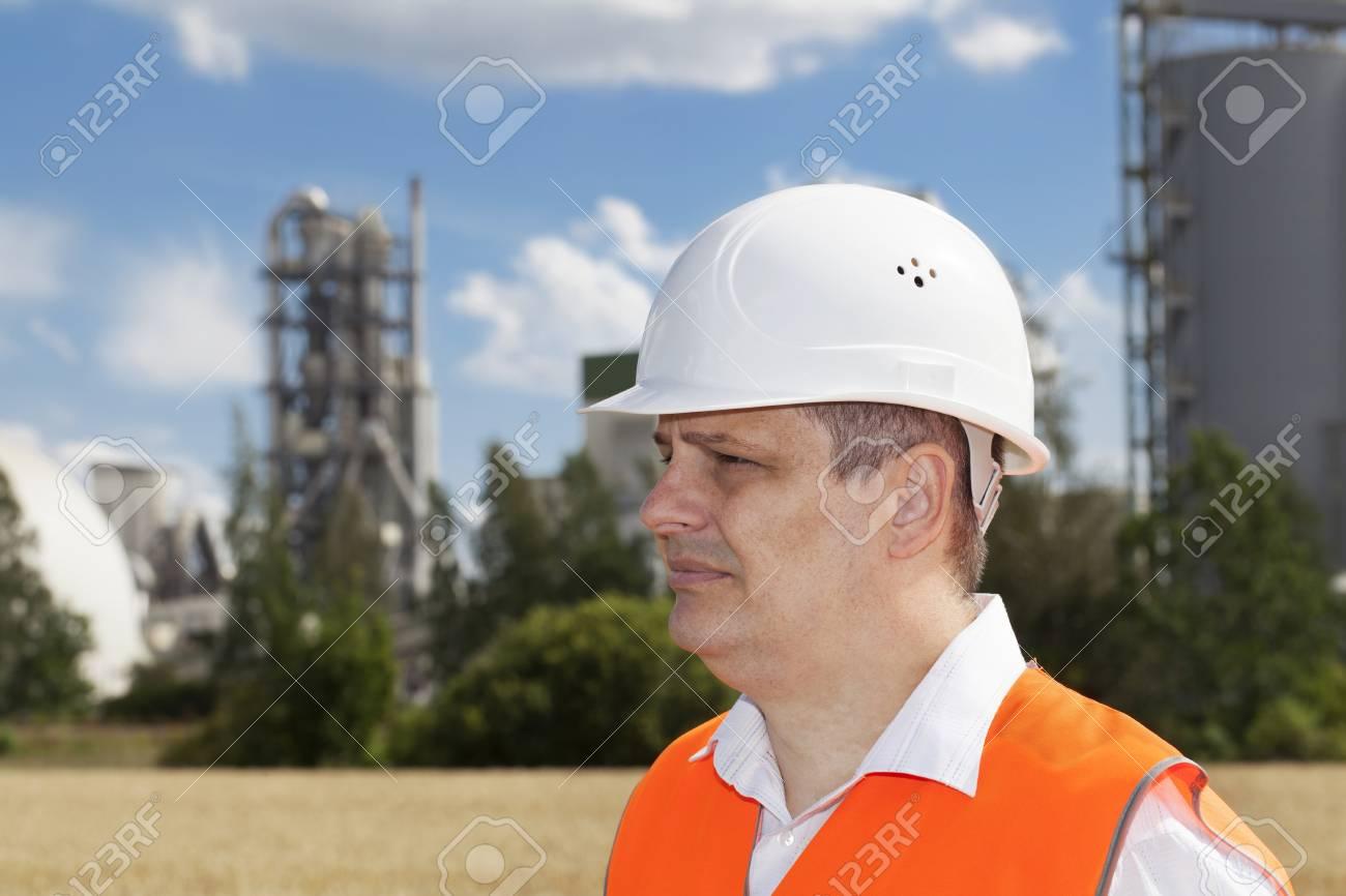 Engineer near the factory Stock Photo - 17563455