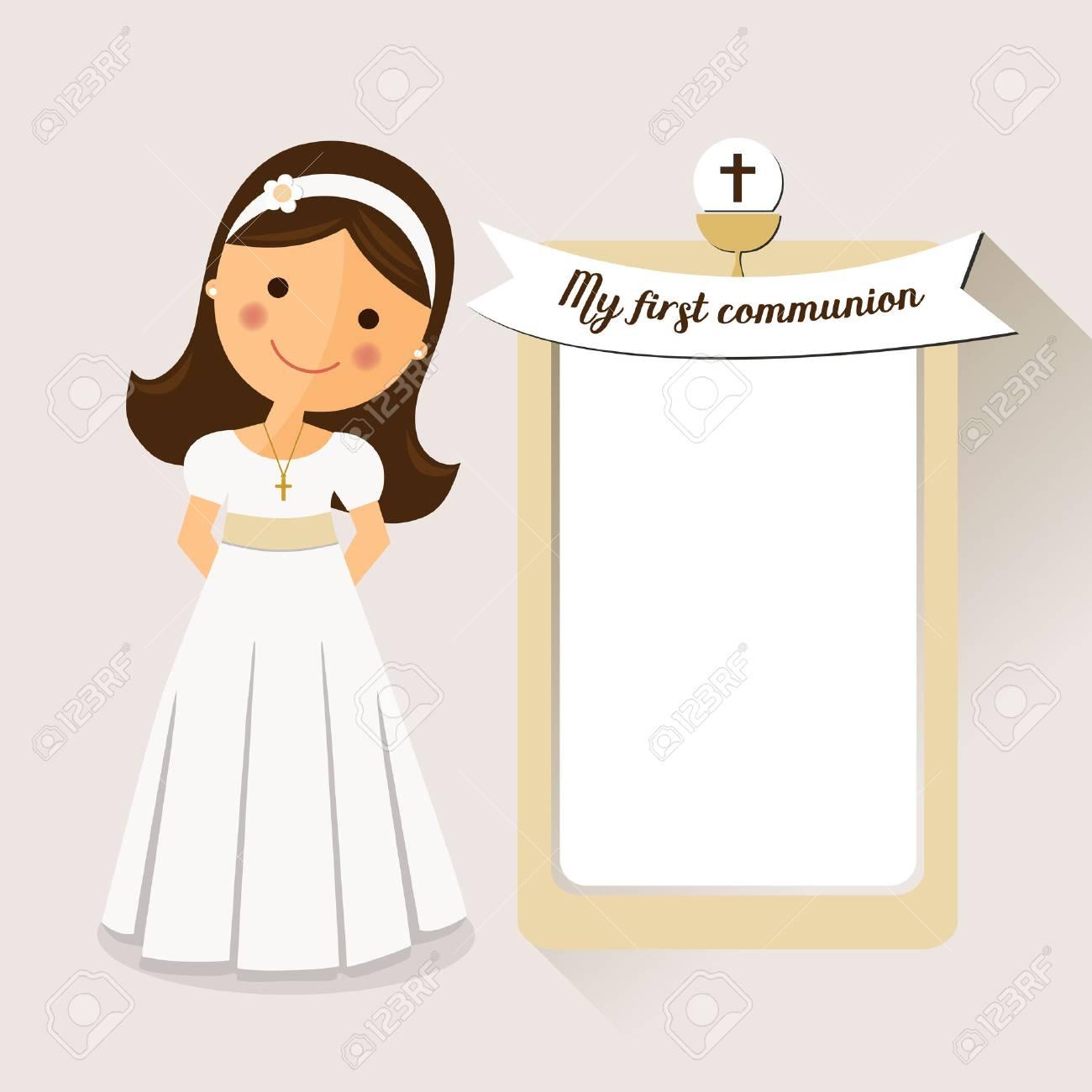 mi primera comunión invitación de la comunión con el mensaje y el