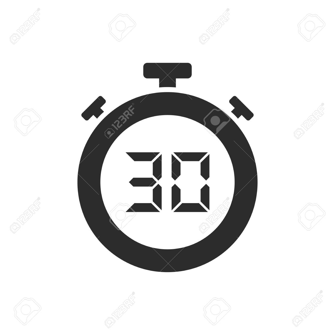 Isolated stopwatch icon with thirty seconds. Vector illustration - 110627920