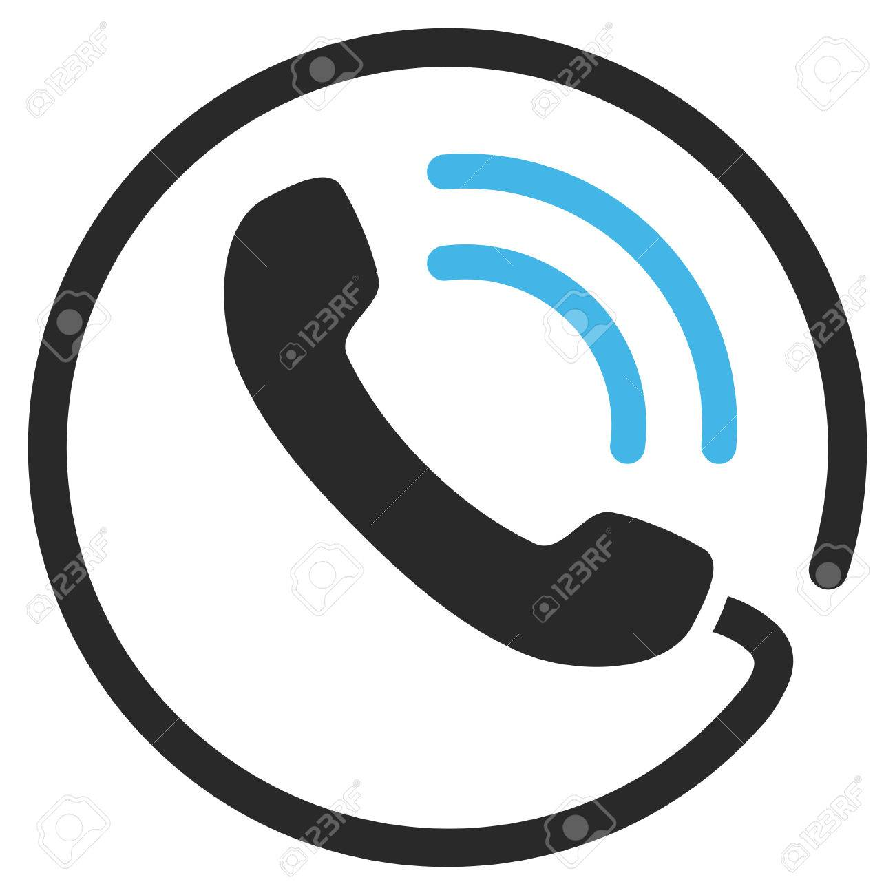 telephone call vector icon picture style is bicolor flat phone rh 123rf com phone vector icon set phone icon vector ai