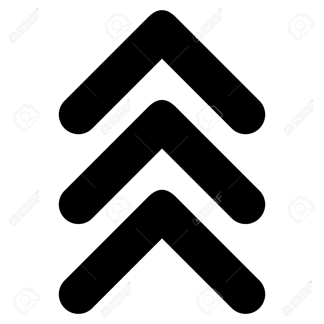 triple arrowhead up vector icon style is flat icon symbol black rh 123rf com arrowhead vector free vectorworks arrowhead