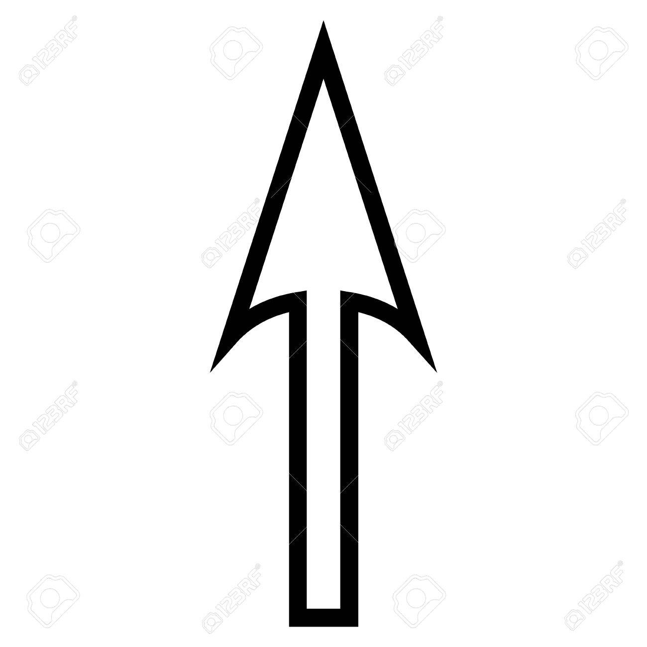 Sharp arrow up vector icon style is thin line icon symbol sharp arrow up vector icon style is thin line icon symbol intensive red and altavistaventures Gallery