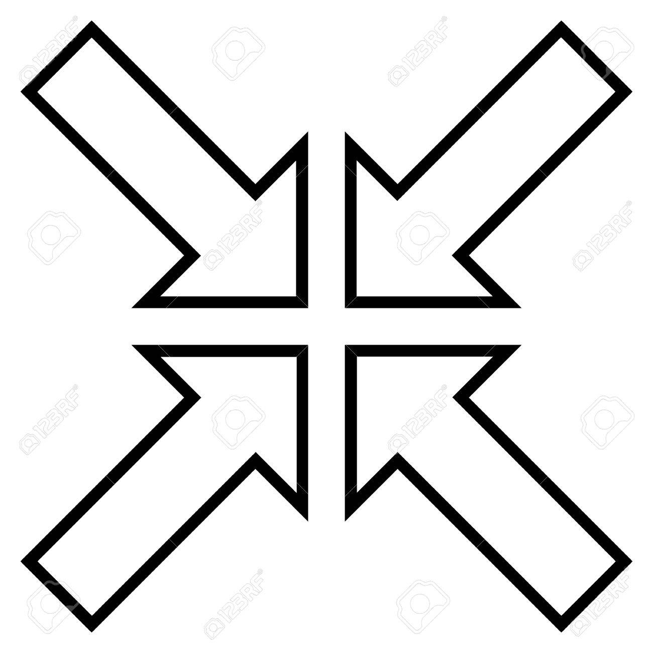 Meeting Point Vector Icon Style Is Contour Icon Symbol Black