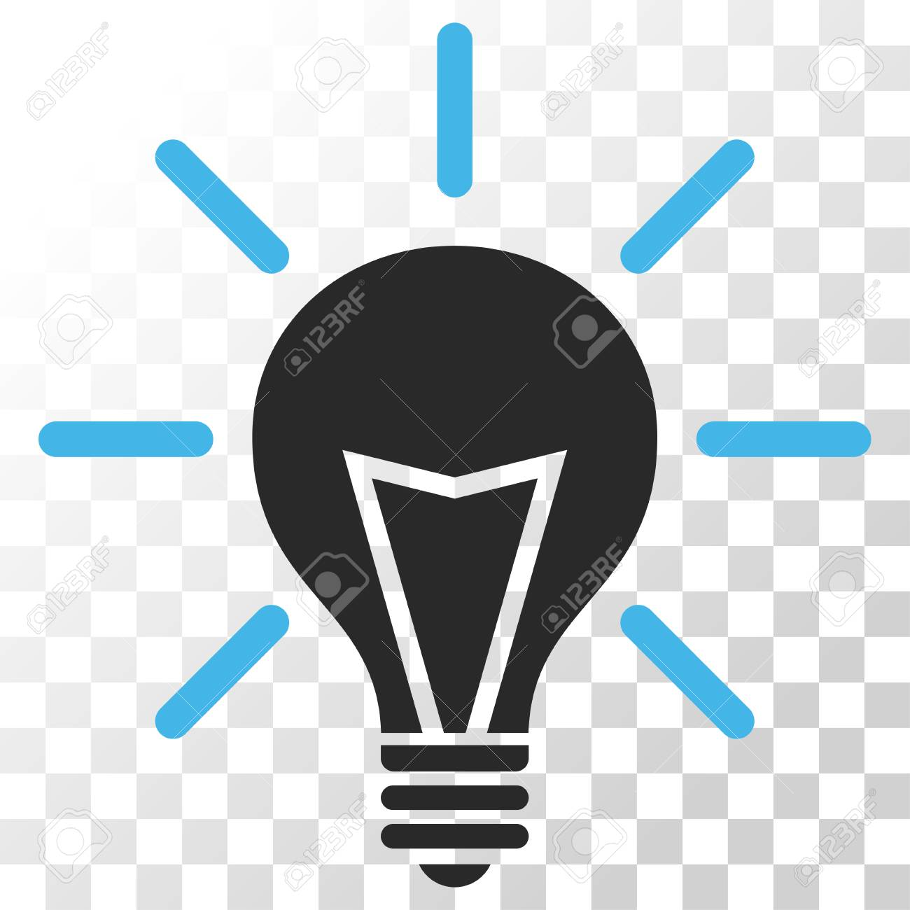 Electric Light Vector Icon. Image Style Is A Flat Blue And Gray ...