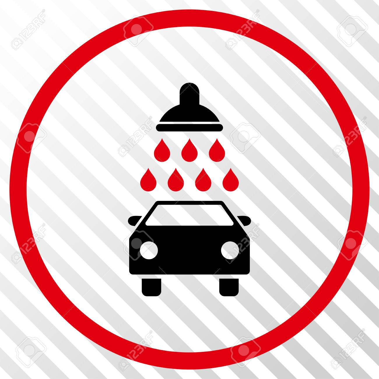 Car shower vector icon image style is a flat intensive red and car shower vector icon image style is a flat intensive red and black iconic symbol biocorpaavc Choice Image