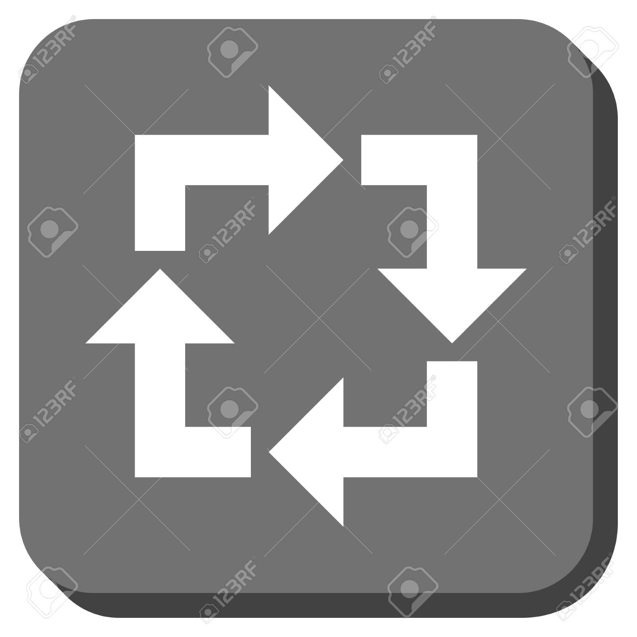 Recycle Vector Icon Image Style Is A Flat Icon Symbol Inside