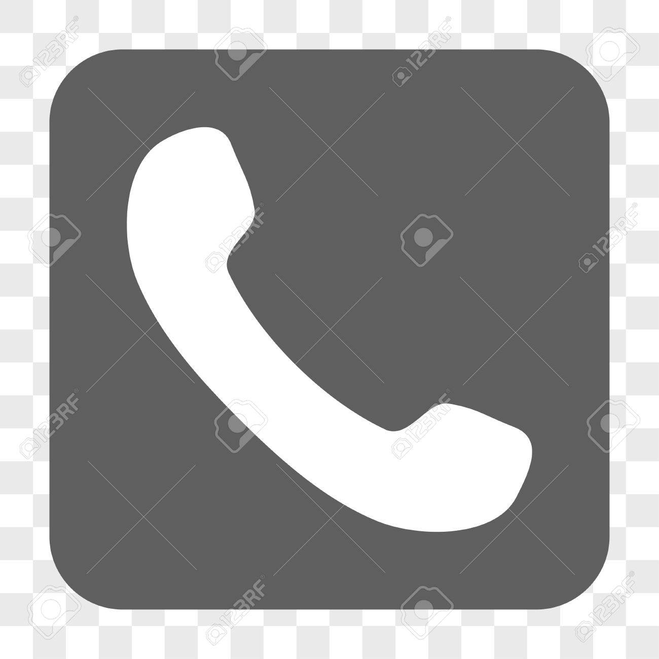 Phone receiver interface toolbar button vector icon style is phone receiver interface toolbar button vector icon style is a flat symbol in a rounded buycottarizona Image collections