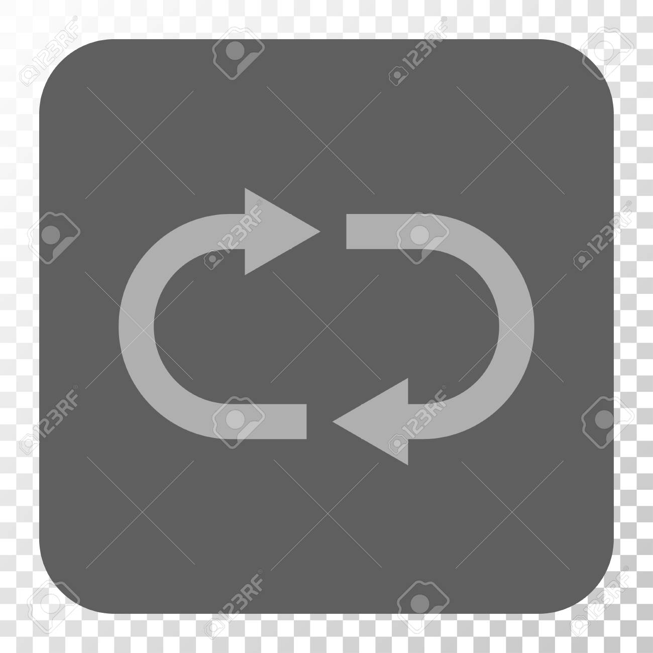 Recycle Interface Button Vector Pictogram Style Is A Flat Symbol