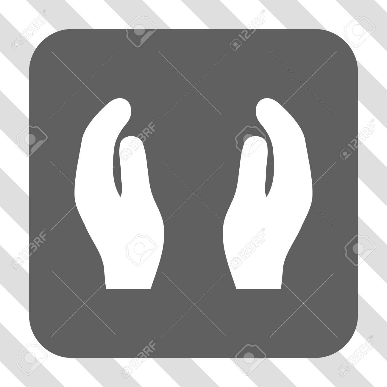 applause hands interface toolbar icon vector pictograph style