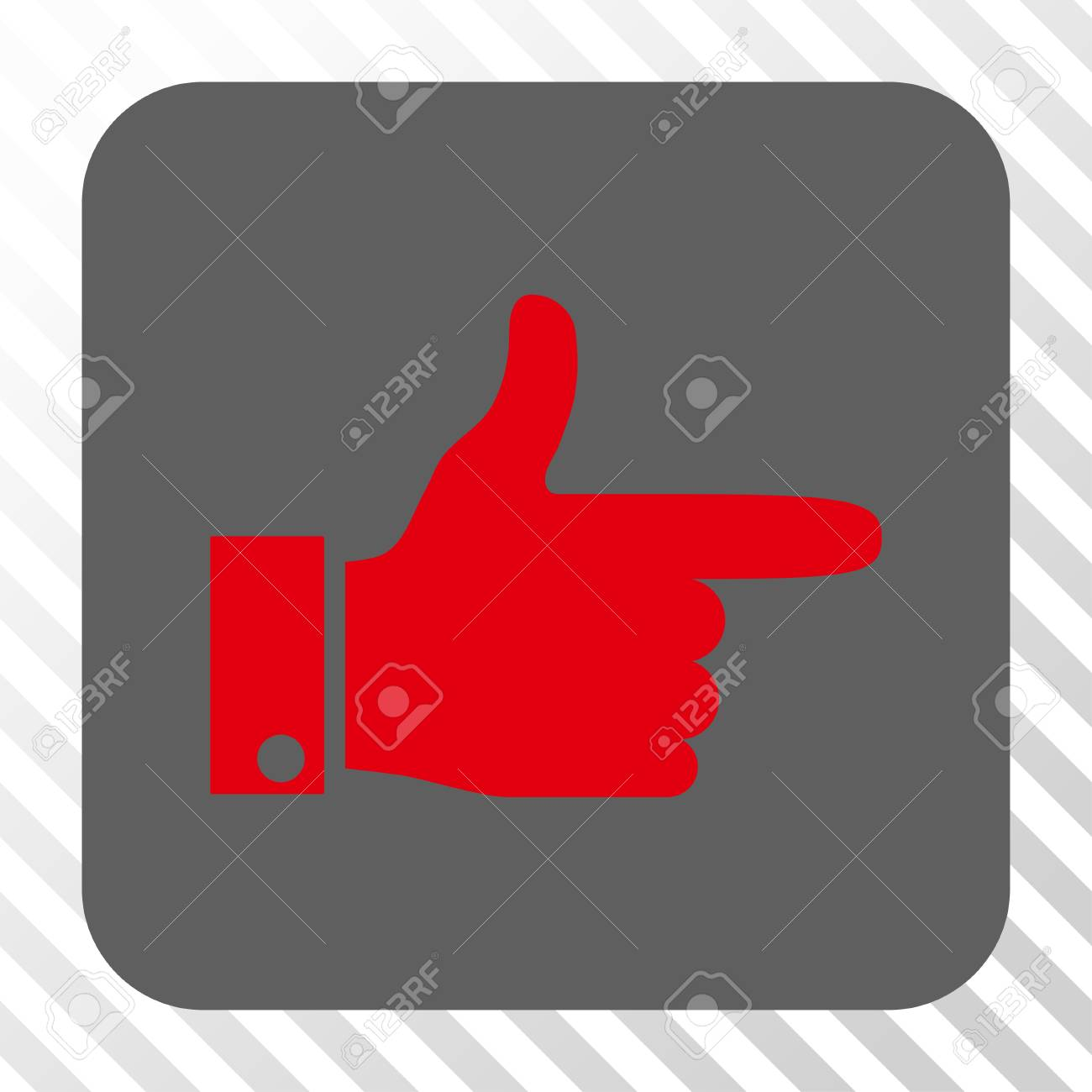 Hand Pointer Right Square Icon Vector Pictograph Style Is A