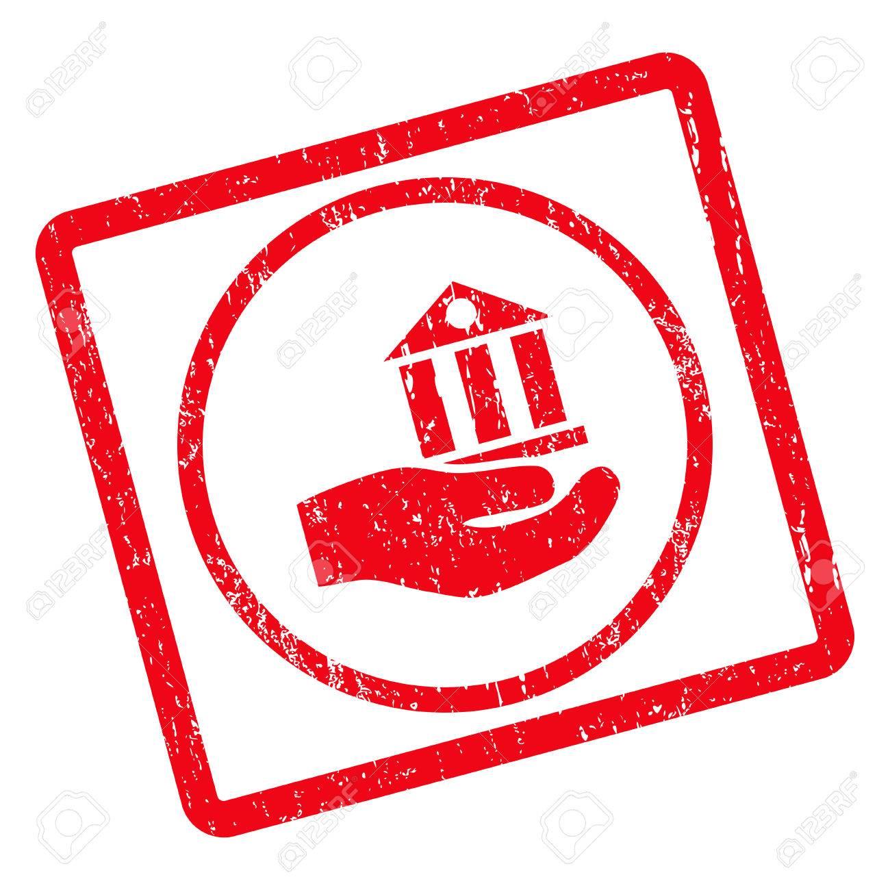Design Bank Wit.Bank Service Rubber Seal Stamp Watermark Glyph Pictogram Symbol