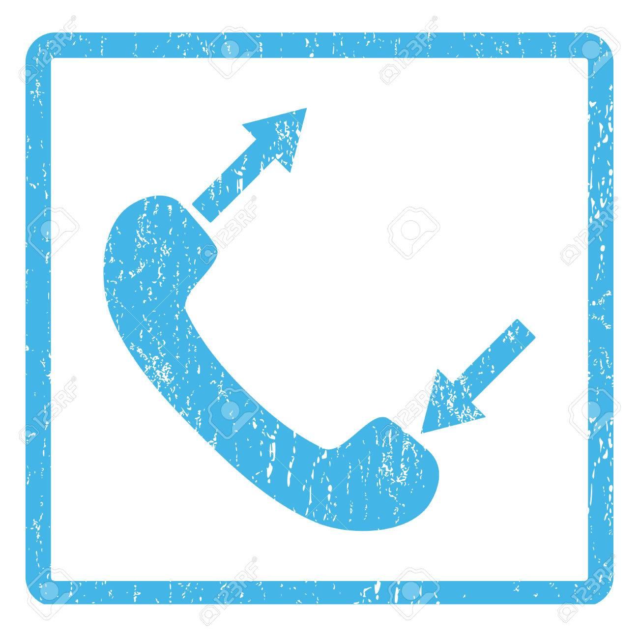 Teléfono Hablar De Sello De Goma Sello Marca De Agua. Símbolo Del ...