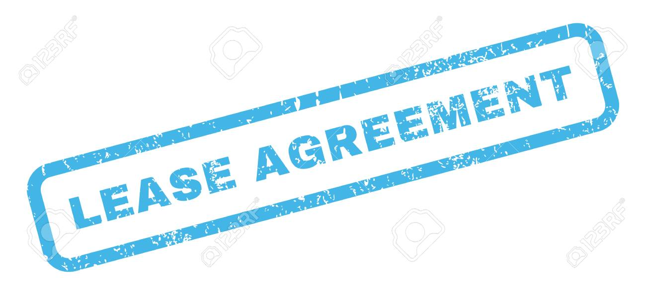Lease Agreement Text Rubber Seal Stamp Watermark Tag Inside Stock