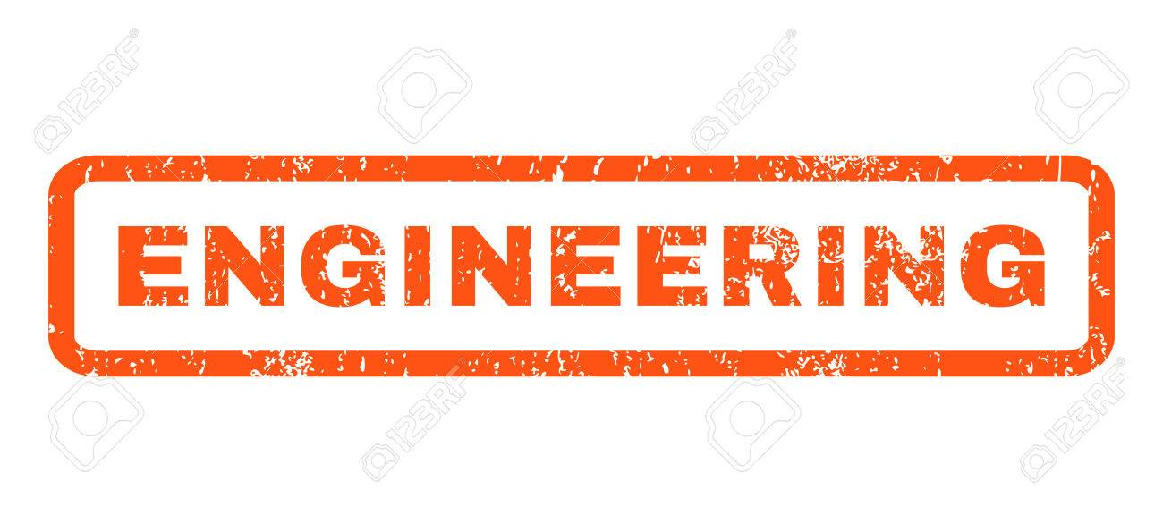 Engineering Text Rubber Seal Stamp Watermark Tag Inside Rectangular Banner With Grunge Design And Dust