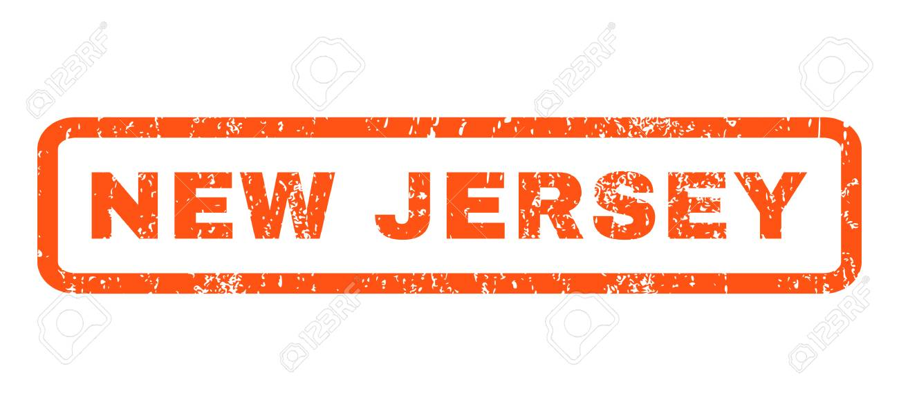 New Jersey text rubber seal stamp watermark  Caption inside rounded