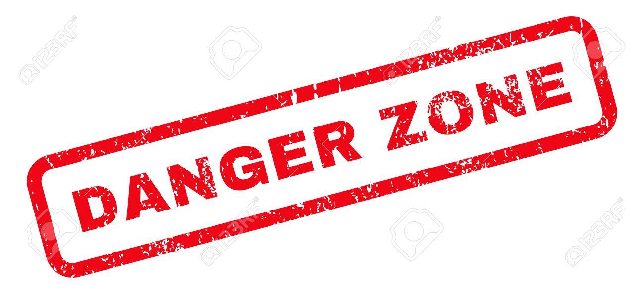 danger zone text rubber seal stamp watermark caption inside stock