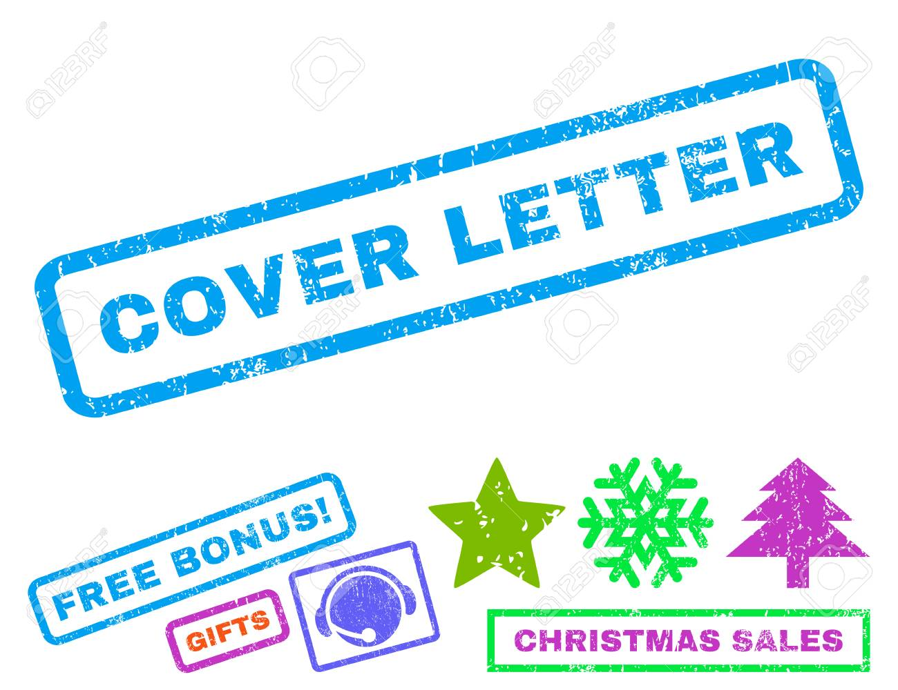 Cover Letter Text Rubber Seal Stamp Watermark With Bonus New