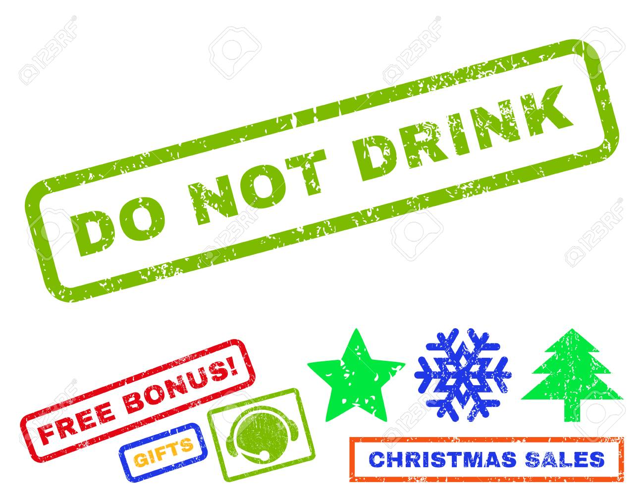 Do Not Drink Text Rubber Seal Stamp Watermark With Bonus New