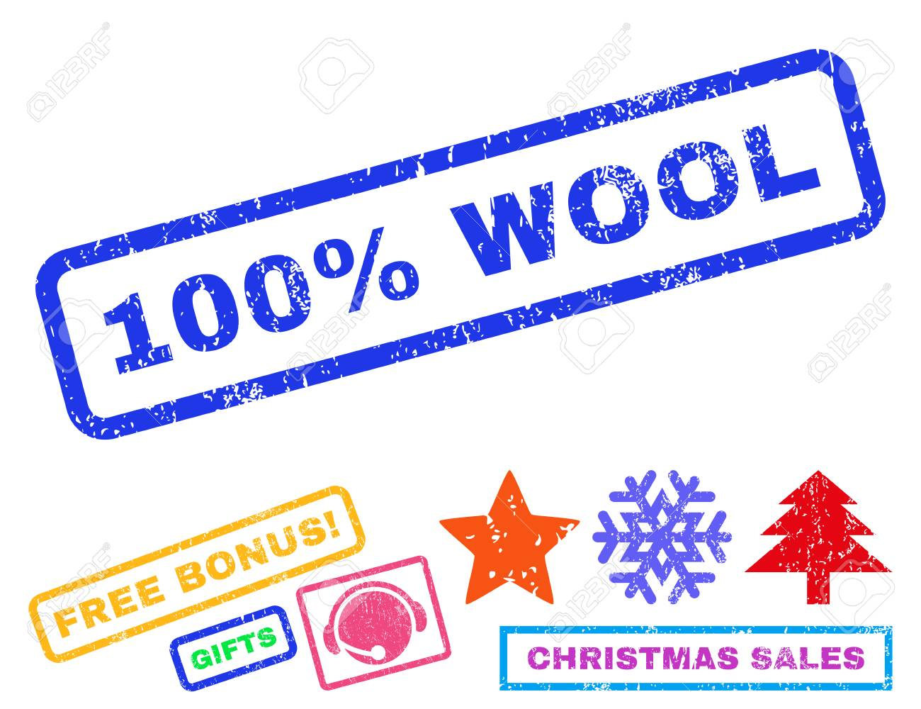 100 percent wool text rubber seal stamp watermark with additional 100 percent wool text rubber seal stamp watermark with additional bonus christmas symbols tag inside buycottarizona Image collections